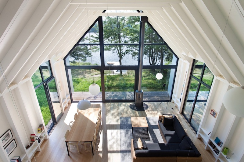 The indoor-outdoor transition is seamless, especially in the case of the living area which extends onto the porch