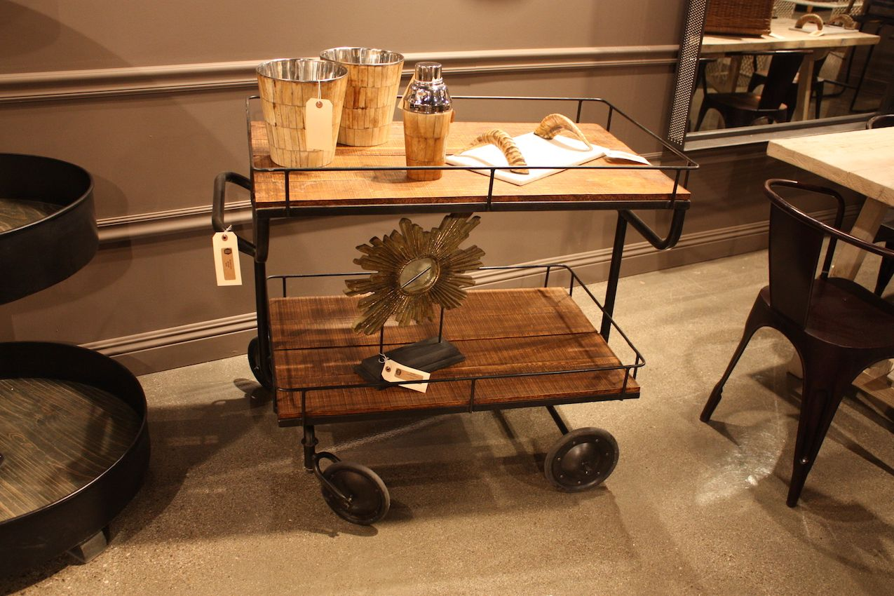 No matter what goes on this cart, it is decidedly industrial.