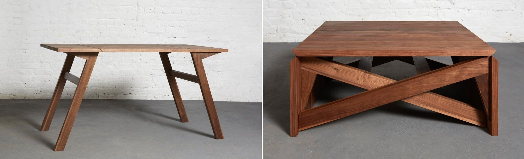 Wood covertible coffee table
