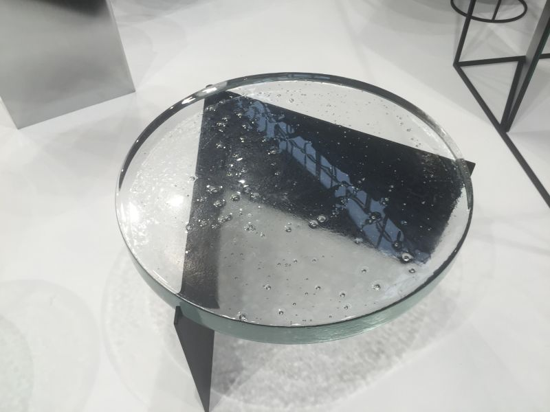alwa one big casted glass top coffee table