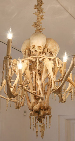 Skeleton Chandelier, 13 Home Furnishings that are Seriously Wrong