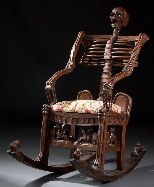Skeleton Chair, 13 Home Furnishings that are Seriously Wrong