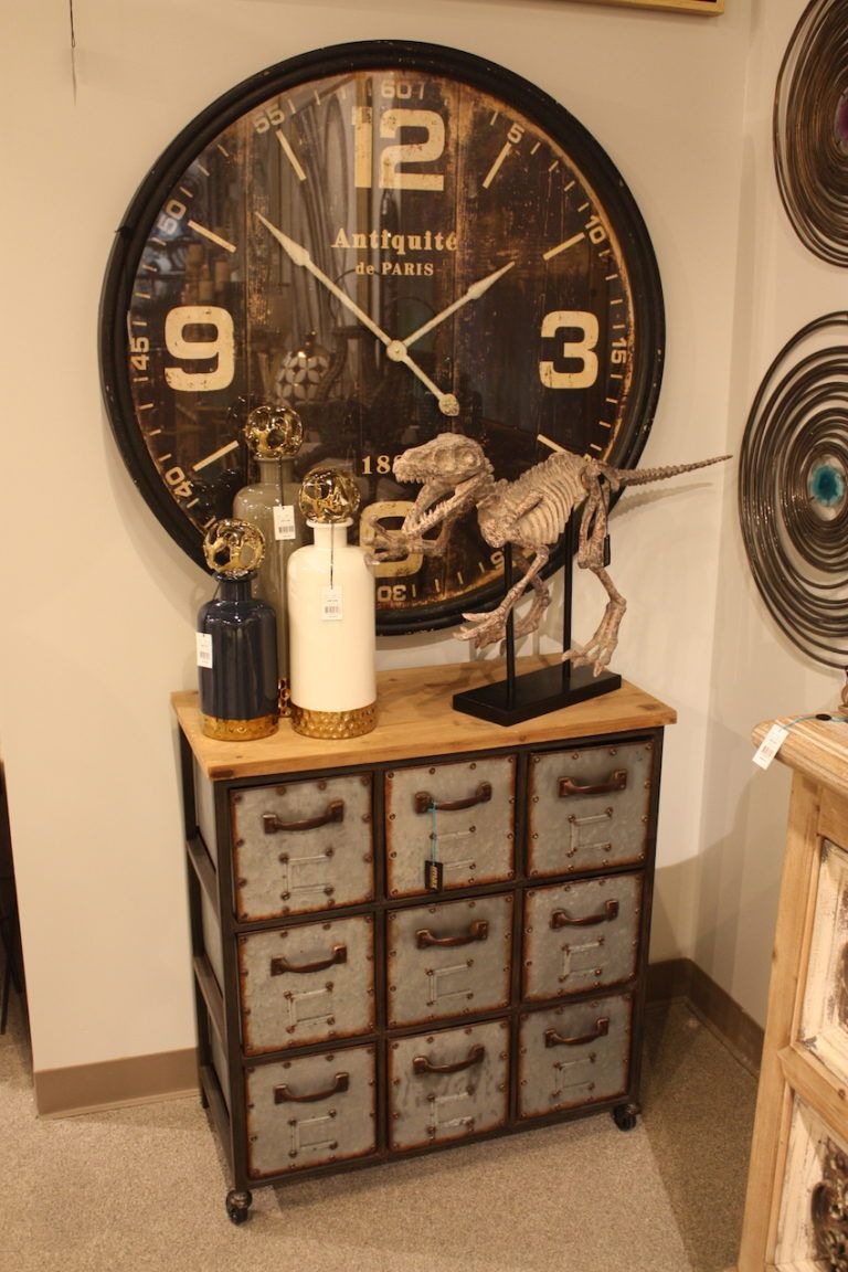 Play up the repurposed angle by changing the accessories and wall decor.