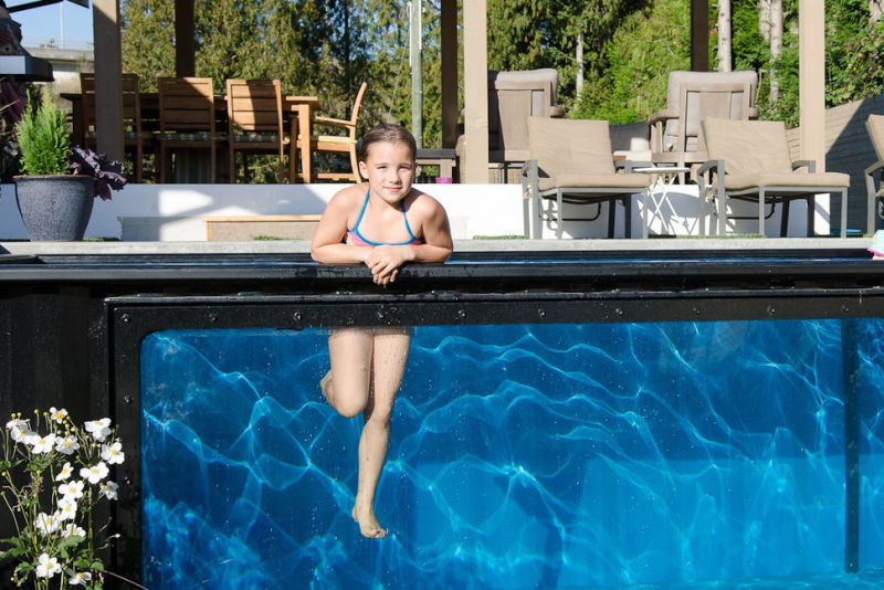 The pools can be installed both above and in-ground
